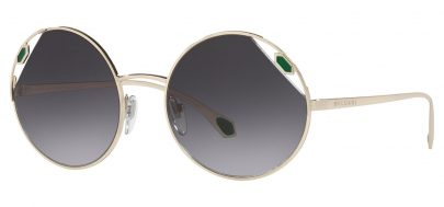 Bvlgari BV6159 Sunglasses - Pale Gold / Grey Gradient