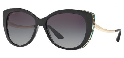 Bvlgari BV8178 Sunglasses - Black / Grey Gradient
