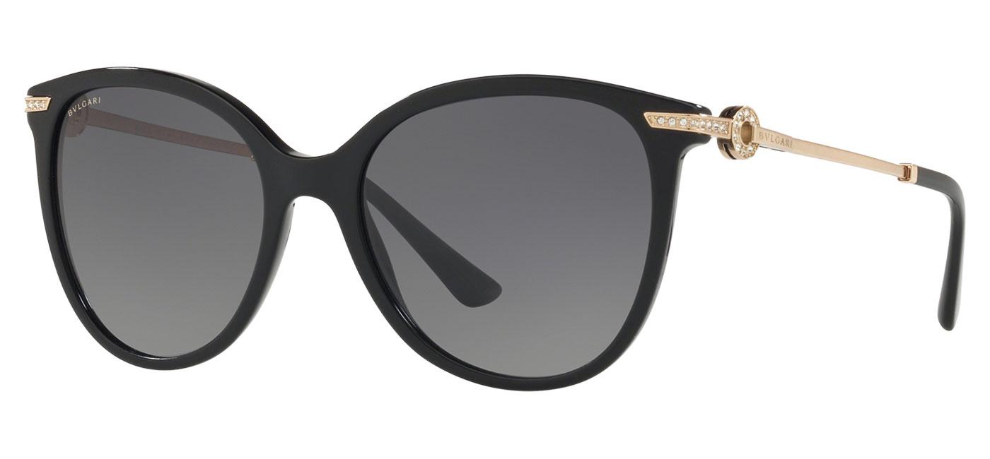 Bvlgari BV8201B Sunglasses – Black / Grey Gradient Polarised 1