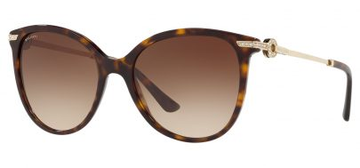 Bvlgari BV8201B Prescription Sunglasses - Dark Havana / Brown Gradient