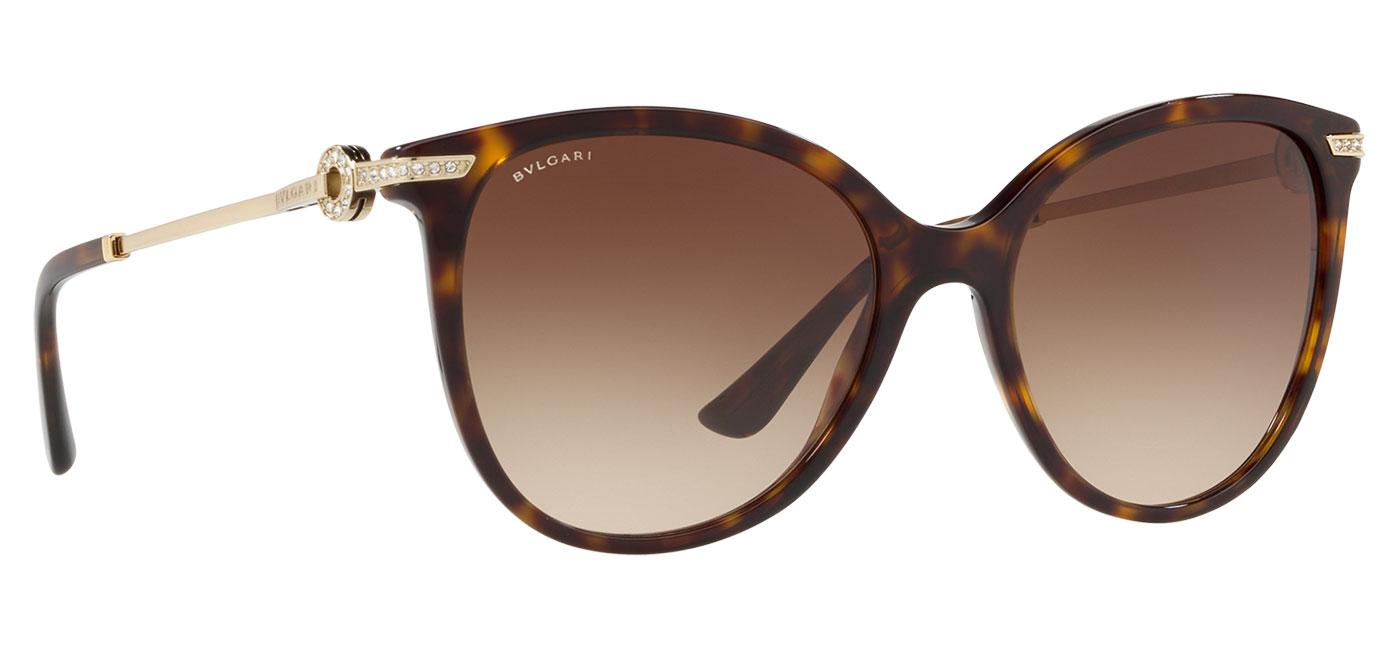 Bvlgari BV8201B Sunglasses – Dark Havana / Brown Gradient 3