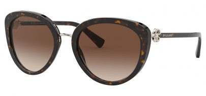 Bvlgari BV8226B Prescription Sunglasses - Dark Havana / Brown Gradient