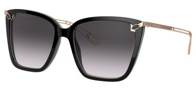 Bvlgari BV8232 Sunglasses - Black / Grey Gradient