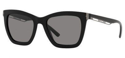Bvlgari BV8233 Sunglasses - Matte Black / Dark Grey Polarised