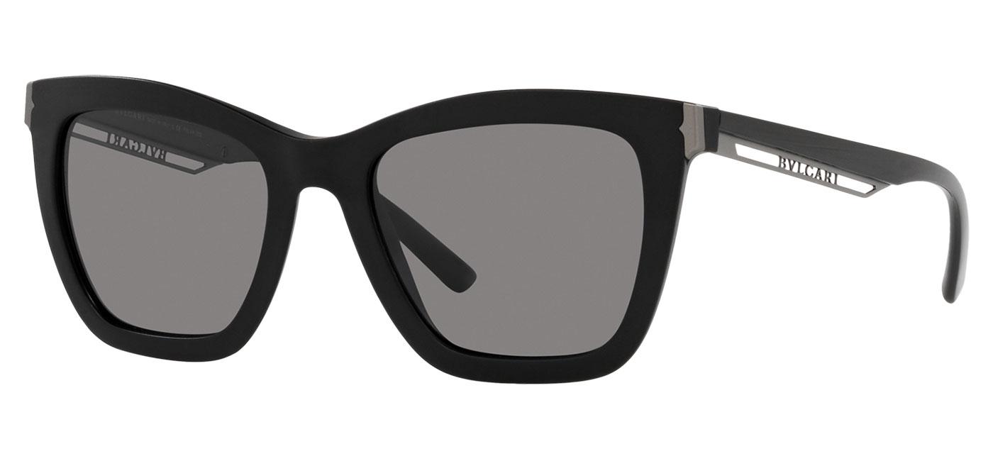 Bvlgari BV8233 Sunglasses – Matte Black / Dark Grey Polarised 1