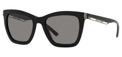 Bvlgari BV8233 Prescription Sunglasses - Matte Black / Dark Grey Polarised