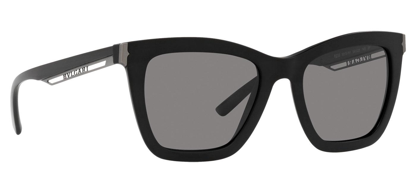 Bvlgari BV8233 Sunglasses – Matte Black / Dark Grey Polarised 3