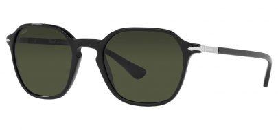 Persol PO3256S Prescription Sunglasses - Black / Green