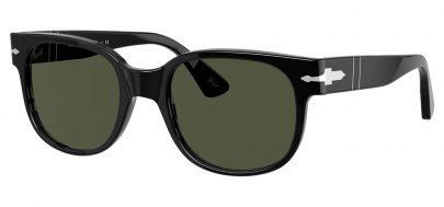 Persol PO3257S Prescription Sunglasses - Black / Green