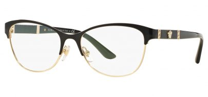 Versace VE1233Q Glasses - Black & Pale Gold