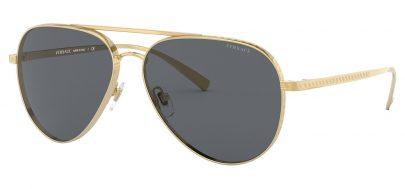 Versace VE2217 Sunglasses - Gold / Grey