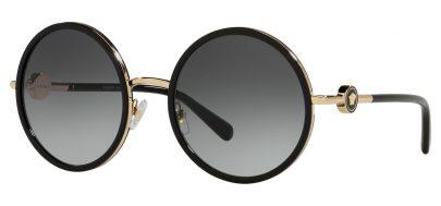Versace VE2229 Sunglasses - Black & Gold / Grey Gradient