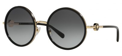 Versace VE2229 Prescription Sunglasses - Black & Gold / Grey Gradient