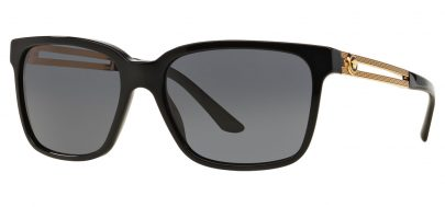 Versace VE4307 Prescription Sunglasses - Black / Grey