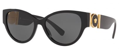 Versace VE4368 Sunglasses - Black / Grey