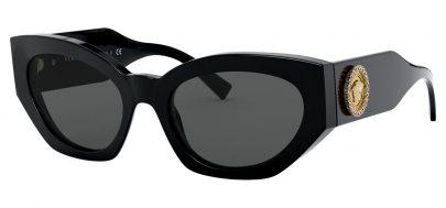 Versace VE4376B Prescription Sunglasses - Black / Grey