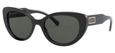 Versace VE4378 Sunglasses - Black / Grey