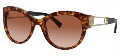 Versace VE4389 Prescription Sunglasses - Light Havana / Brown Gradient