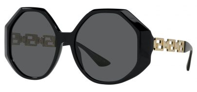 Versace VE4395 Sunglasses - Black & Gold / Grey