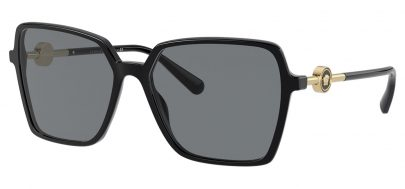 Versace VE4396 Sunglasses - Black & Gold / Grey