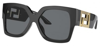 Versace VE4402 Sunglasses - Black / Dark Grey