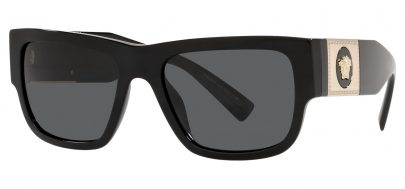 Versace VE4406 Sunglasses - Black & Gold / Grey
