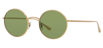 Oliver Peoples OV1197ST After Midnight Prescription Sunglasses - Brushed Gold / Green