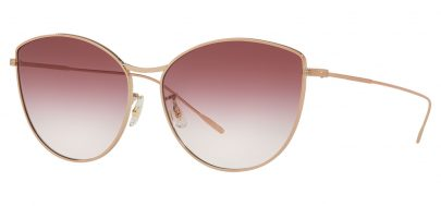 Oliver Peoples OV1232S Rayette Prescription Sunglasses - Soft Rose Gold / Magenta Clear Gradient