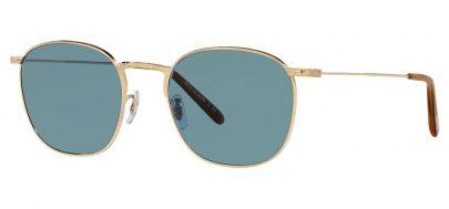 Oliver Peoples OV1285ST Goldsen Sun Prescription Sunglasses - Gold / Cobalto