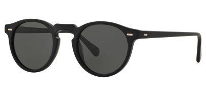 Oliver Peoples OV5217S Gregory Peck Prescription Sunglasses - Semi Matte Black / Midnight Express Polarised
