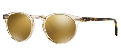 Oliver Peoples OV5217S Gregory Peck Prescription Sunglasses - Buff Dark Tortoise Brown / Gold Mirror MG