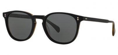 Oliver Peoples OV5298SU Finley Esq. Prescription Sunglasses - Semi Matte Black & Moss Tortoise / Graphite Polarised
