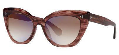 Oliver Peoples OV5452SU Laiya Prescription Sunglasses - Merlot Smoke / Soft Tan Gradient