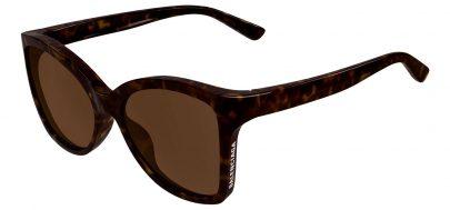 Balenciaga BB0150S Sunglasses - Havana / Brown