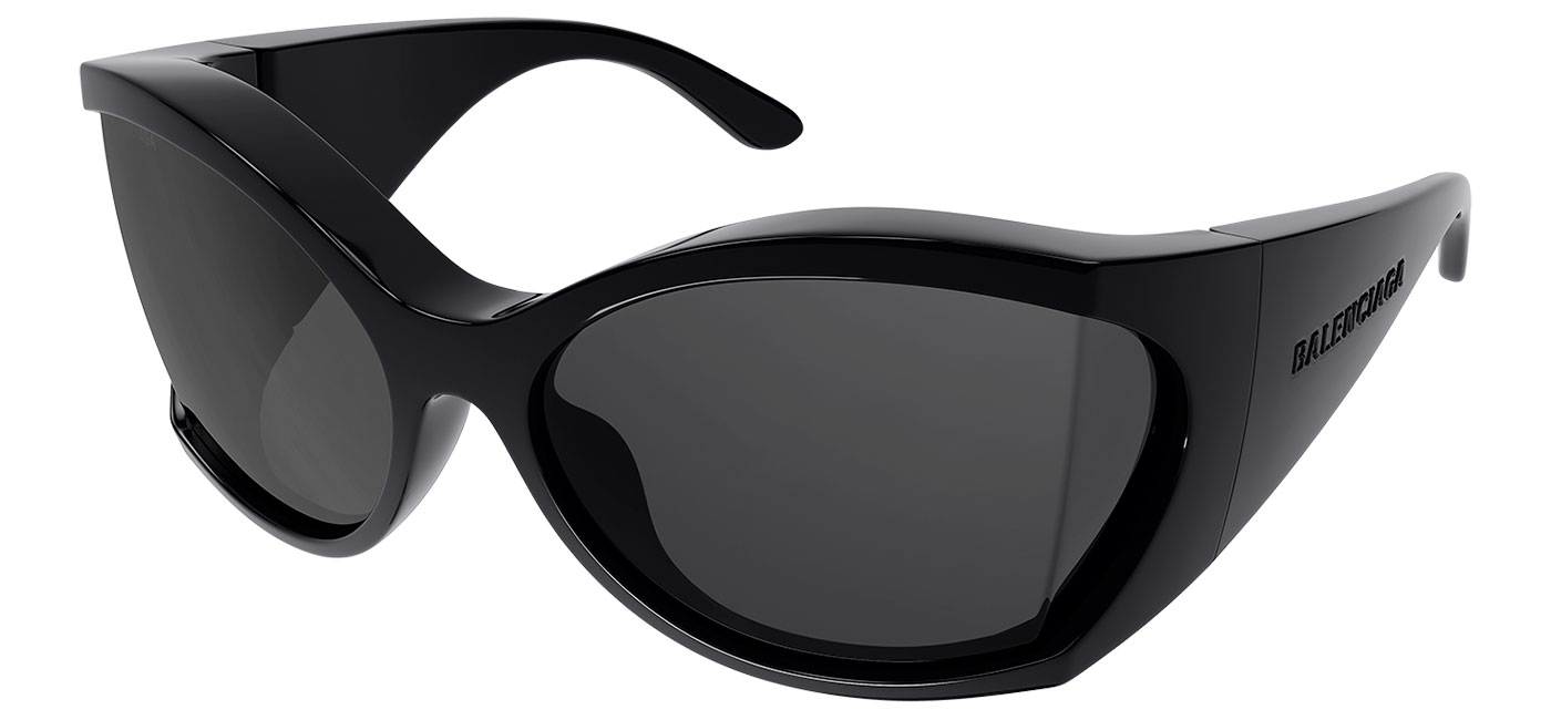 Balenciaga BB0154S Sunglasses – Black / Grey 1