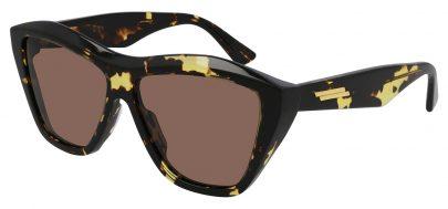 Bottega Veneta BV1092S Sunglasses - Havana / Brown
