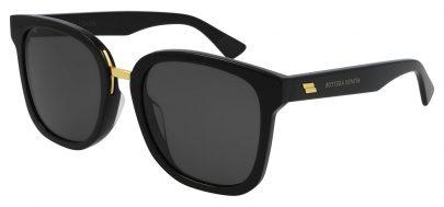 Bottega Veneta BV1095SA Prescription Sunglasses - Black / Grey