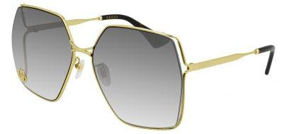 Gucci GG0817S Sunglasses - Gold / Grey Gradient