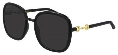 Gucci GG0893S Sunglasses - Black / Grey