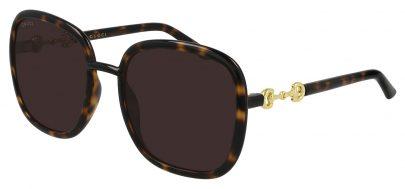 Gucci GG0893S Sunglasses - Havana / Brown