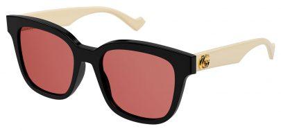 Gucci GG0960SA Prescription Sunglasses - Black & White / Rose