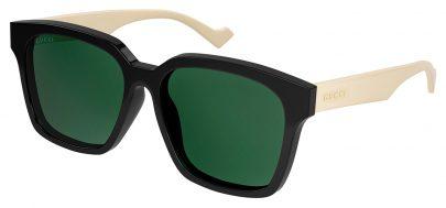 Gucci GG0965SA Prescription Sunglasses - Black & White / Green