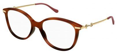 Gucci GG0967O Glasses - Havana & Gold
