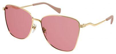 Gucci GG0970S Sunglasses - Gold / Pink