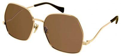 Gucci GG0972S Sunglasses - Gold / Brown