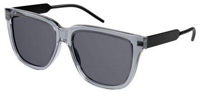 Gucci GG0976S Prescription Sunglasses - Transparent Grey & Black / Smoke
