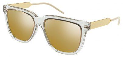 Gucci GG0976S Prescription Sunglasses - Crystal & Gold / Gold Mirror