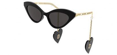 Gucci GG0978S Sunglasses - Black & Gold / Grey