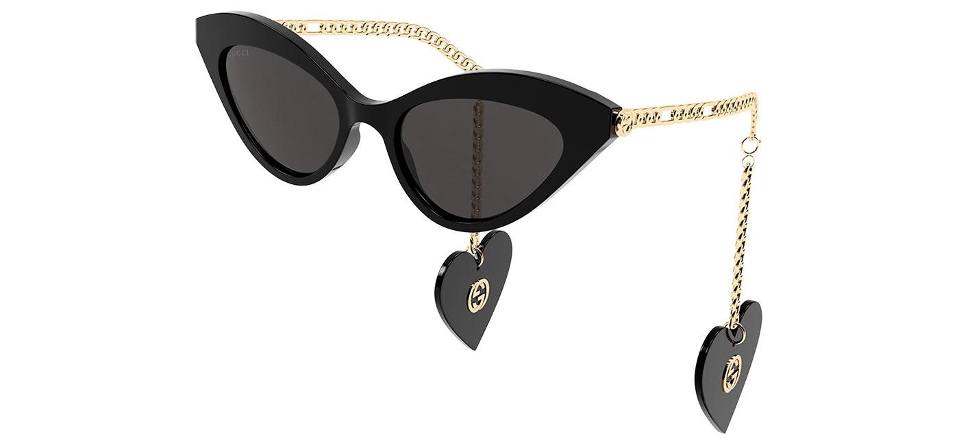 Gucci GG0978S Sunglasses – Black & Gold / Grey 1