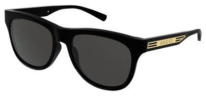 Gucci GG0980S Sunglasses - Black & Gold / Grey